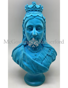 Teal Flock Large Queen Victoria Bust