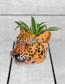 Ceramic Leopard Head Storage Jar/Vase