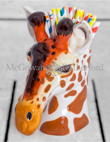 Ceramic Giraffe Head Storage Jar/Vase