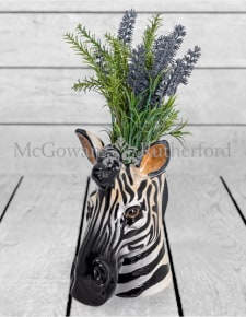Ceramic Zebra Head Storage Jar/Vase