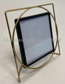 "Gold Wire Frame 5x5"" Square Photo Frame"
