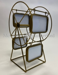 Gold Metal Ferris Wheel Multi Photo Frame