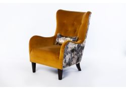 James Chair Vintage Mustard and Charcoal