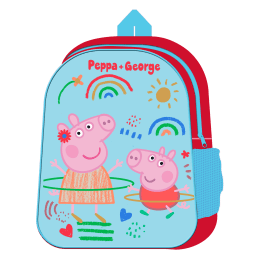 31cm Peppa Pig Backpack with side mesh pkt