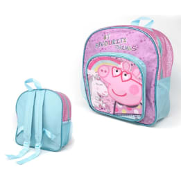 Deluxe Backpack Glitter Peppa Pig
