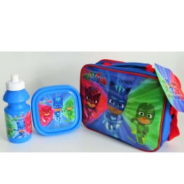 3pce Lunch Bag Set PJ Masks / Horizontal with strap