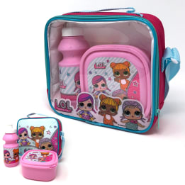 3pce Lunch Bag Set LOL  /  Horizontal with strap