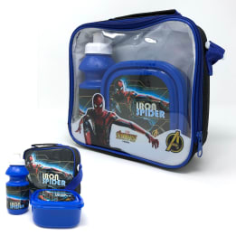 3pce Lunch Bag Set Iron Spider /  Horizontal with strap