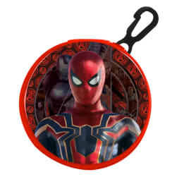 Round PVC Zipped Coin Purse With Key Clip Iron Spider