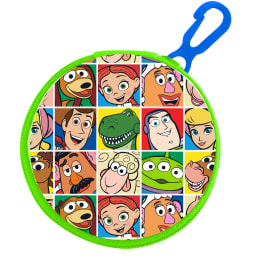 Round Zipped PVC Coin Purse With Key Clip Toy Story