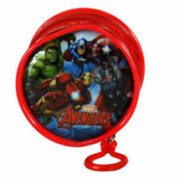 Round PVC Zipped Coin Purse With Key Clip Avengers