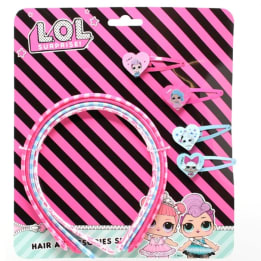 LOL Surprise Hair Bands With Clips Set