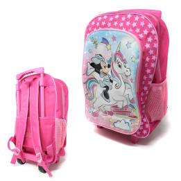 Deluxe 41cm New Foldable Trolley Backpack Minnie