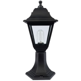 Manta E27 Four Sided Pillar Lantern Black