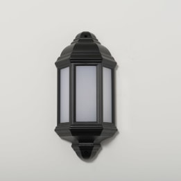 Manta 10W LED Black Half Wall Lantern
