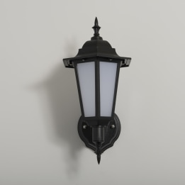 Manta 7W LED Upward Wall Lantern Black