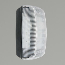 Monda 7W 4000K LED Clear Polycarbonate Bulkhead