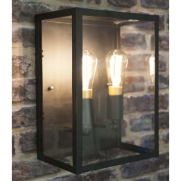 Terrario E27 Twin Glass Wall Lantern
