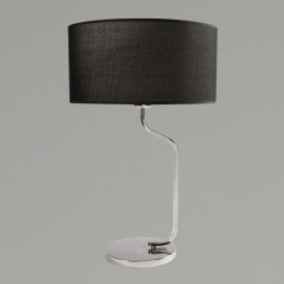 Ocara 60W E27 Table Lamp with Black Shade