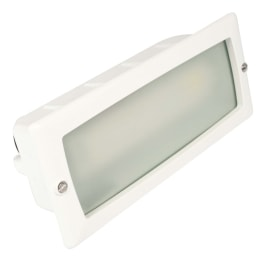 Mira 100 9W PL Low Energy Plain Frame Wall Recessed White