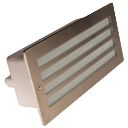 Mira 100 9W PL Low Energy Louvered Grille Wall Recessed Stainless Steel