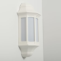 Majorca 13W Low Energy Flush Wall Lantern with Opal Diffuser White