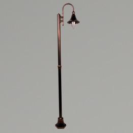 Lampara E27 Single Street Post Antique Bronze