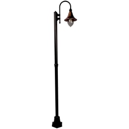 Lampara E27 Single Street Post Black/Copper