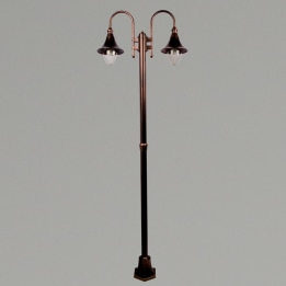Lampara E27 Twin Street Post Antique Bronze