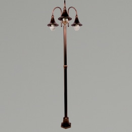 Lampara E27 Triple Street Post Antique Bronze