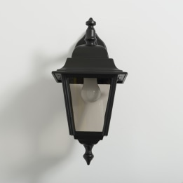 Nizza E27 Downward Wall Lantern Black
