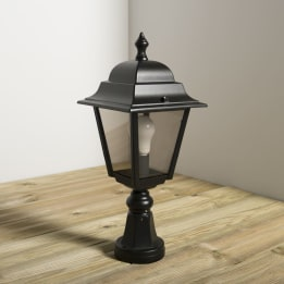 Nizza E27 Pillar Lantern Black