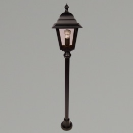 Nizza E27 Mini Post Lantern Black