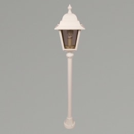 Nizza E27 Mini Post Lantern White