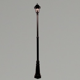 Nizza E27 Single Street Post Lantern Black
