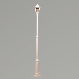 Nizza E27 Single Street Post Lantern White
