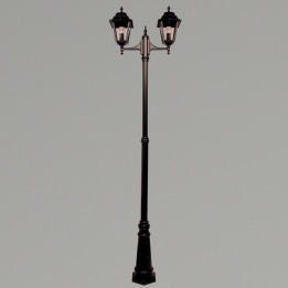 Nizza E27 Twin Street Post Lantern Black