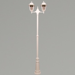 Nizza E27 Twin Street Post Lantern White