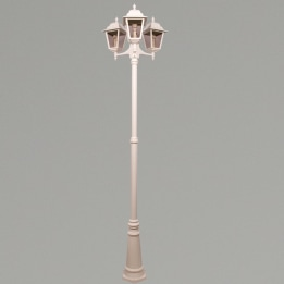 Nizza E27 Triple Street Post Lantern White
