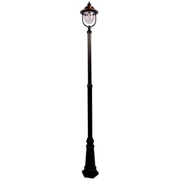 Romantica E27 Single Street Post Lantern Black/Copper
