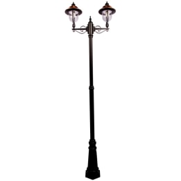 Romantica E27 Twin Street Post Lantern Black/Copper