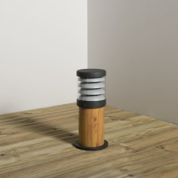 Polo 352mm 18W PLC Low Energy Bollard Anthracite/Wood