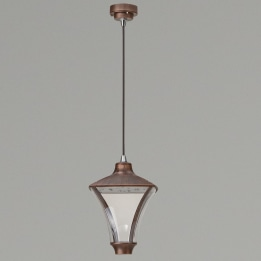 Morphis I 24W 3000K LED Hanging Lantern Antique Bronze