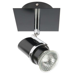 Zafra GU10 Single Spotlight Black