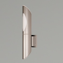 Lomas E27 Low Energy Wall Light Silver