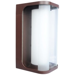 Hector E27 Flush Wall Lantern Rusty Brown