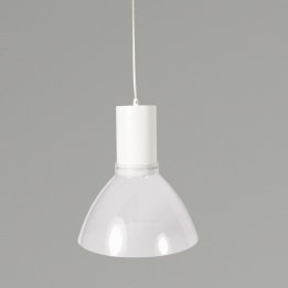 Mika 9W 3000K LED Pendant Light White with Transparent Shade