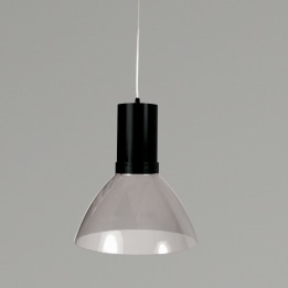 Mika 9W 3000K LED Pendant Light Black with Smoke Transparent Shade