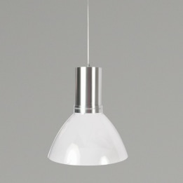 Mika 9W 3000K LED Pendant Light Aluminium with Transparent Shade