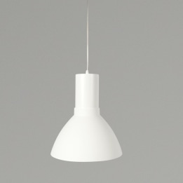 Mika 26W 3000K LED Pendant Light White with White Shade